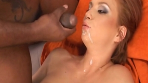 Small tits Electra Angel fucking with big cock guy
