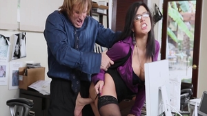Latina Eva Angelina group sex in office