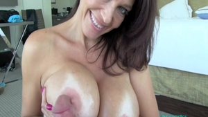 MILF Charlee Chase getting a facial