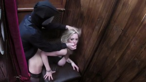 Rebecca More escorted by Rebecca Moore getting drilled