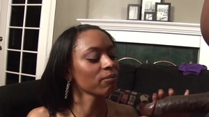 Receiving facial cum loads starring busty ebony pornstar
