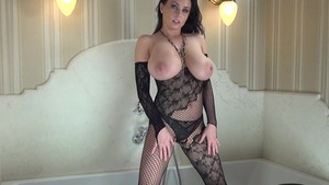 Busty wearing fishnets fucked all the way