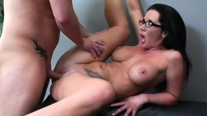Rough fucking in the company of very sensual brunette
