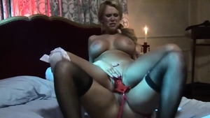 Very hot big ass blonde Eva Angelina voyeur strapon in the bed