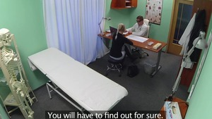 Doctor hidden foreplay in the hospital