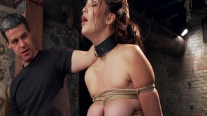 Rough bondage in company with very hot babe Holly Michaels