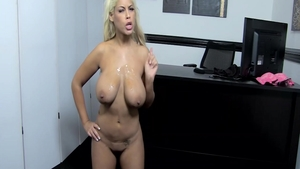 Real sex along with busty latina slut Bridgette B in office