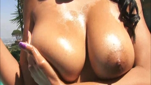 Busty Jean Val Jean fetish pussy fucking outdoors