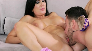 Hard nailining with erotic brunette Romi Rain