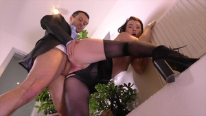 Misha Cross in nylon gets plowed