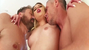 Petite Mick Blue threesome double penetration