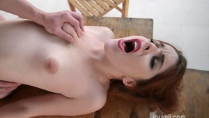 Raw hard nailining along with redhead