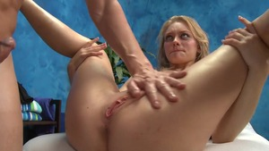 Girl massage on the table