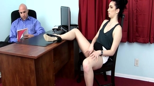 Very hot Aria Alexander fantasy pussy fucking in office