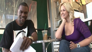 Sarah Vandella ass fucking in a cafe