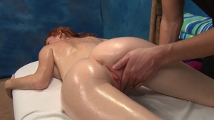 Natural boobs girl oil massage doggy fuck in HD