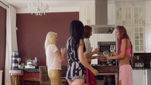 Group sex at the party HD