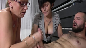 Nailed rough with young GILF