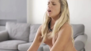 Sweet blonde goes in for pussy sex