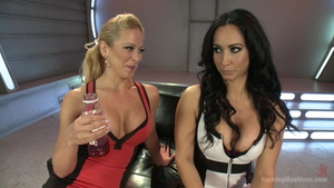 Cherie Deville escorted by big tits Isis Love