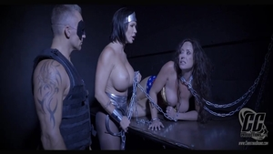Domination chained starring Summer Day and big tits Shay Fox