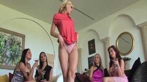 Lesbo Eve Angel threesome