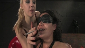 Raw sex together with lesbians Charley Chase