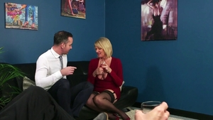 Amy Goodhead in tight stockings gets a good fucking