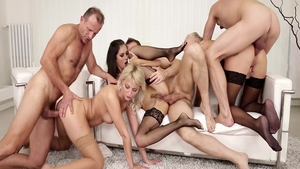Raw group sex accompanied by Katy Rose and George Uhl