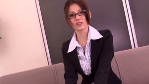 Ameri Ichinose in glasses bukkake