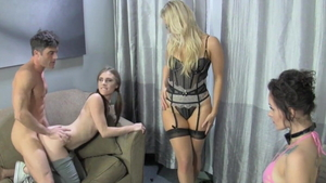 Dirty bisexual Ashley Fires revenge humiliation orgy in HD
