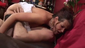 Tanya Cox with brunette Ben Dover blowjob