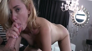Erotic blonde Haley Reed feels up to nailed rough