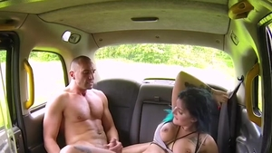 Hard slamming with big tits driver Alexxa Vice