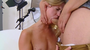 Young blonde Violette Pure agrees to creampie