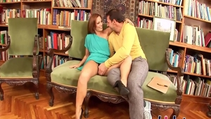 Super sexy Sylvia Laurent pussy fucking in library