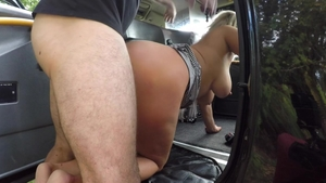 Fucking hard in company with big butt blonde