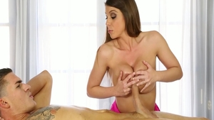 Wet teen chick Romi Rain has a soft spot for nailed rough