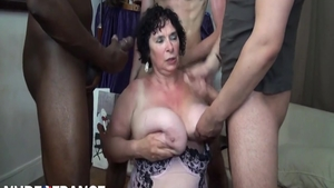 Busty granny fucking with BBC guy