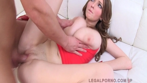 Babe Lucie Wilde & big tits Busty Buffy double penetration