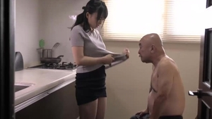 Hard fucking in the company of japanese mature