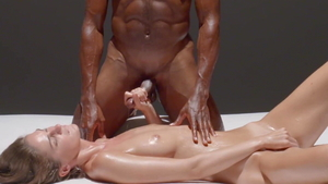 Sensual couple handjob