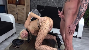 Chick Vanessa Hell wearing uniform erotic pussy eating