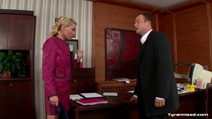 Blonde Pussy fucked in office HD