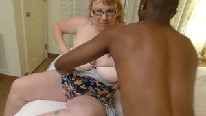Nailing large boobs BBW wearing glasses
