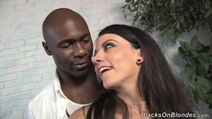 Brunette anal interracial at the castings HD