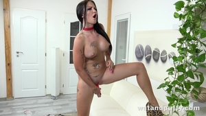 Isabel Dark large tits female sex toys solo