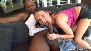 Incredible brunette really enjoys nailed rough HD