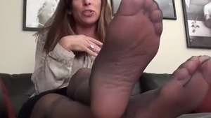 Female POV foot teasing