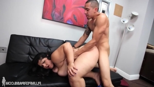 Big tits and young Karla Lane dick sucking
